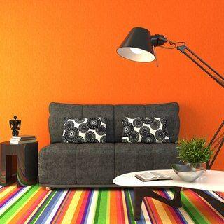 Пестрые цвета будут сужать комнату, поэтому остановитесь только на холодных оттенках.