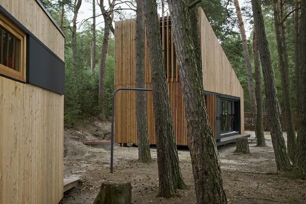 Энергоэффективный дом с камином: 60 квадратов в экостиле