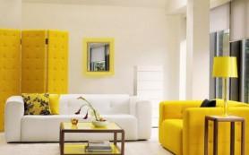 Модные сочетания цветов в интерьере: желтый и белый