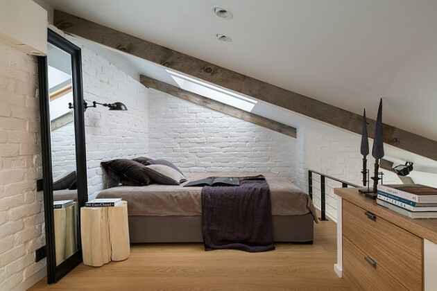 Дизайн маленькой квартиры: двухэтажный интерьер
