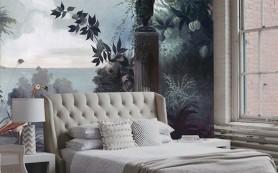 Панорамные обои в интерьере спальни
