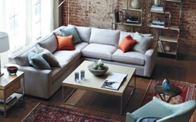 Как оформить пространство перед угловым диваном