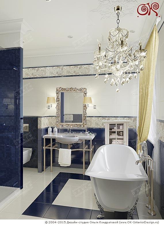 Элегантная классика в дизайне ванной комнаты