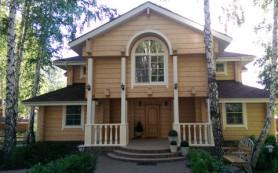 Строительство дома из клееного бруса, фахверк: от индивидуального проекта — до ключа