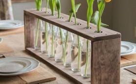 Декор из стеклянных бутылок своими руками