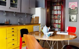 Эклектика в интерьере кухни