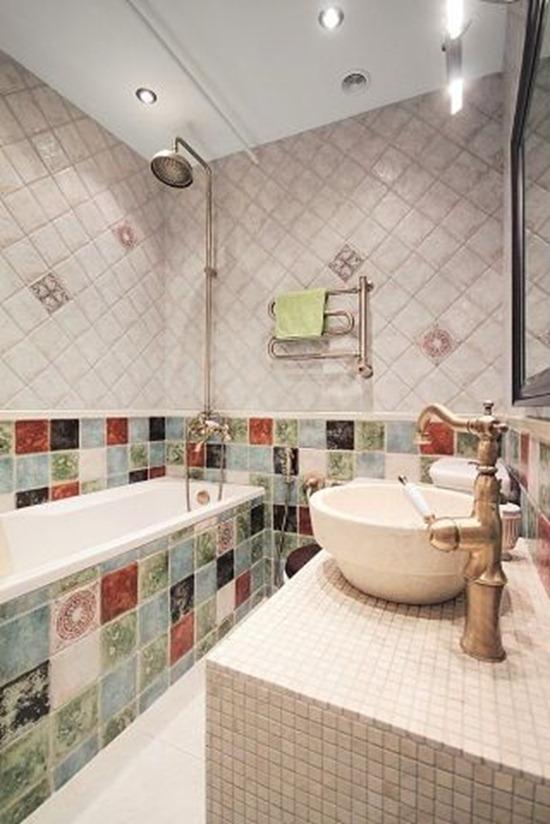 Как при помощи плитки зрительно увеличить маленькую ванную комнату