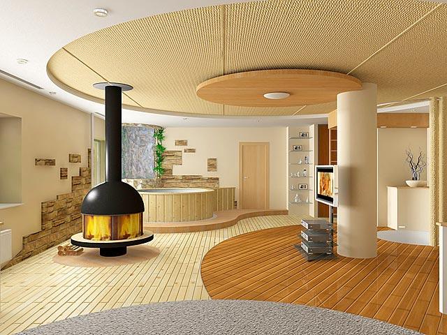 Дизайн потолков спальни