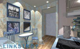 Дизайн проект кухни в 6 квадратных метров