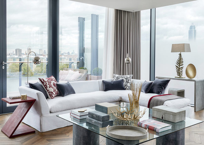Дизайн модной современной гостиной