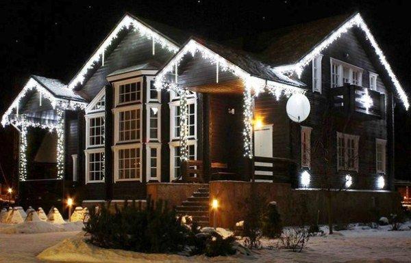 Новогодний декор дома и участка
