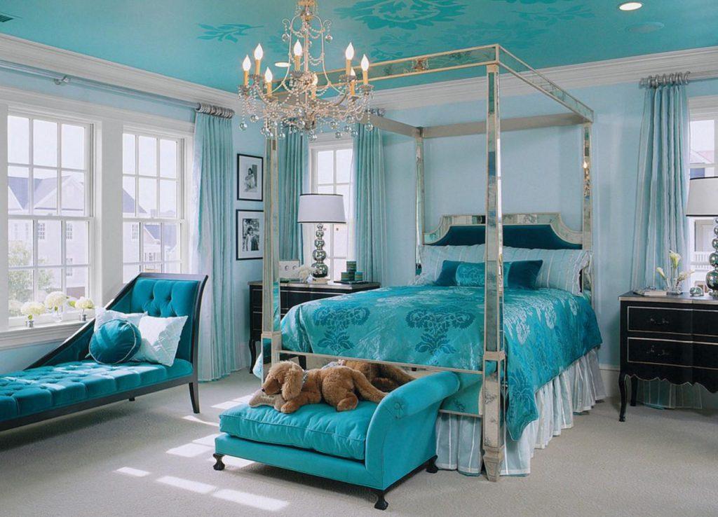 Дизайн бирюзовой спальни 3 на 4 метра: изысканный и стильный интерьер