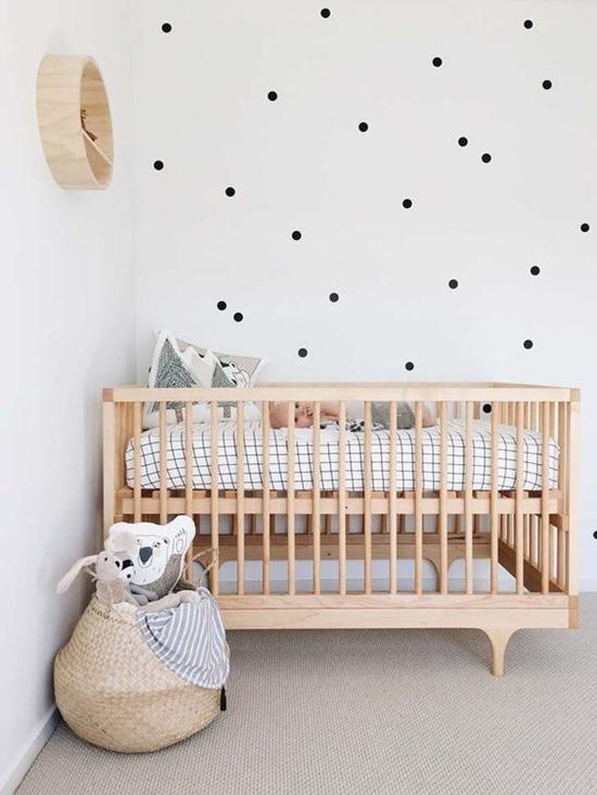 Скандинавский стиль интерьера в комнате для малыша