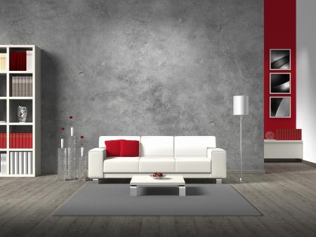 Использование бетона в интерьере квартиры