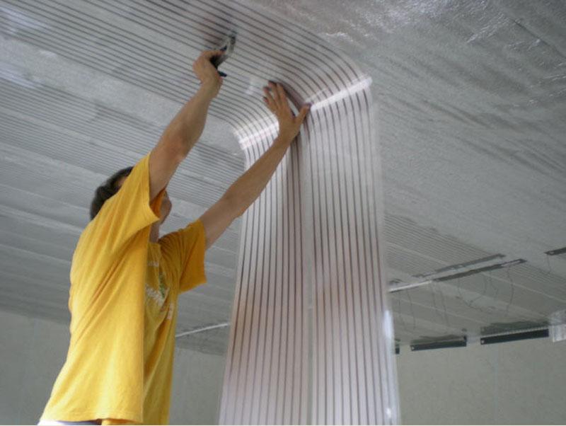 Как зебра на потолке обогреет комнату