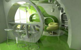 Дизайн интерьера в стиле биоморфизм