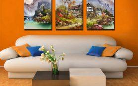 Создаем новые акценты в интерьере с помощью картин на холсте