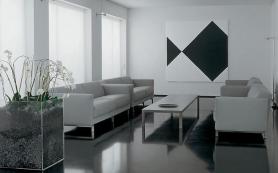 Декоративный пластик в интерьере в стиле функционализм