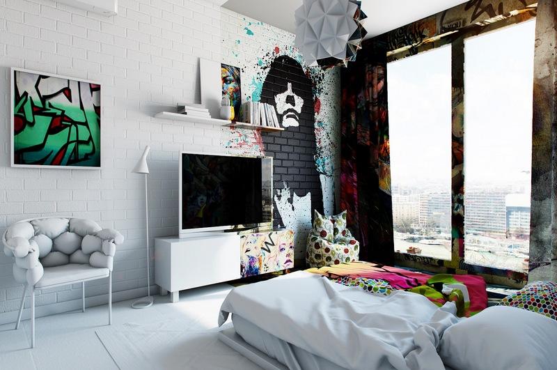 Граффити в интерьере – новые тенденции современного дизайна