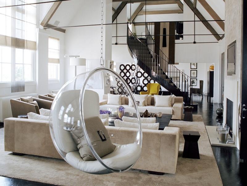 Кресло-шар в интерьере: сочетание стиля и практичности