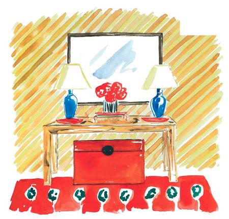 Дизайн прихожей: мебель, зеркала и скамеечки