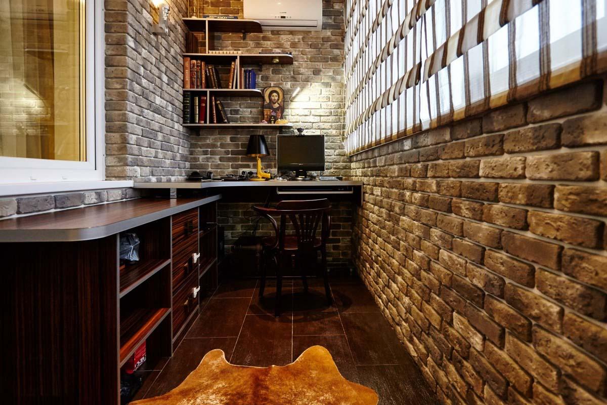 Дизайн квартир: кабинет на балконе портал о ремонте, строите.