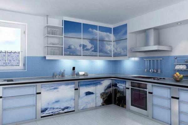 Голубая кухня: свежесть и невесомость в интерьере