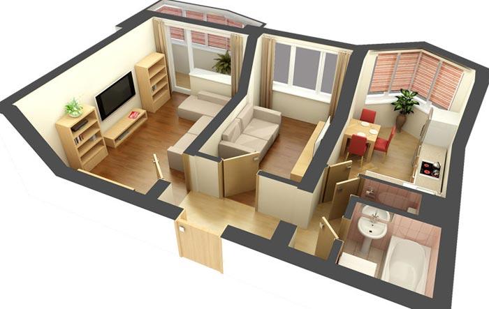 Секреты дизайна двухкомнатной квартиры
