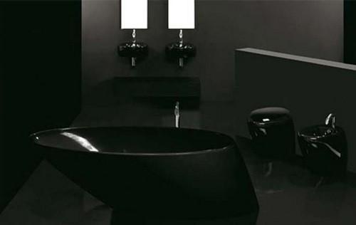 Черная ванная комната: важные моменты оформления темного интерьера