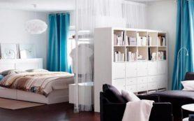 Гостиная, совмещенная со спальней — советы для правильного зонирования