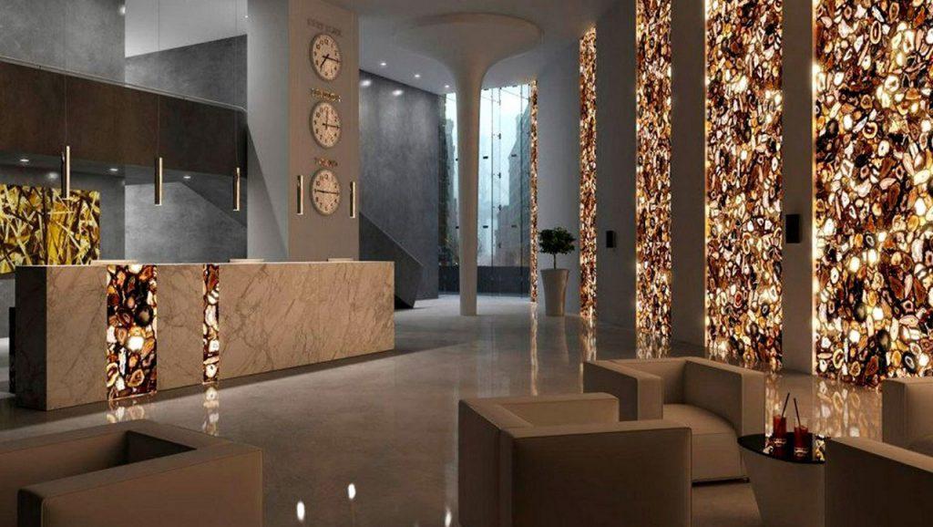 Натуральный камень в интерьере дома и квартиры: изделия из слэба