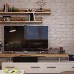 Дизайн стены с телевизором в гостиной – фото интерьеров