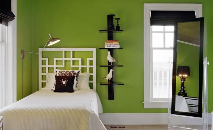 Умиротворяющий зеленый цвет в домашнем интерьере