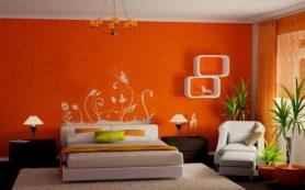 Цитрусовое настроение:  идеи интерьера спальни в оранжевом цвете
