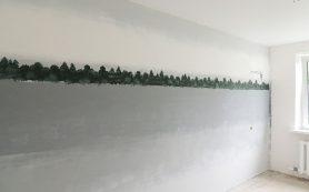 Необычное оформление комнаты