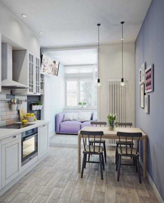 Практичный и долговечный интерьер кухни