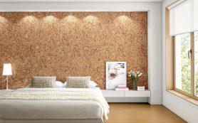 Пробка на стене: экзотично и практично