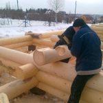 Строительство дома методом ручной рубки