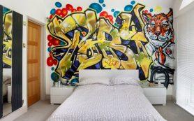 Граффити в комнате подростка: яркий акцент и стильный декор интерьера