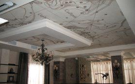 Дизайн потолка в ванной: красота и практичность