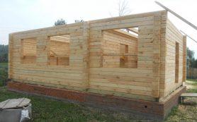 Самостоятельная сборка дома из профилированного бруса: технология, инструкция