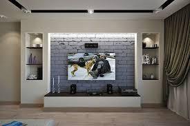 Стеллаж из гипсокартона под телевизор