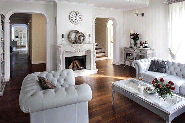 Парижский стиль в оформлении гостиной
