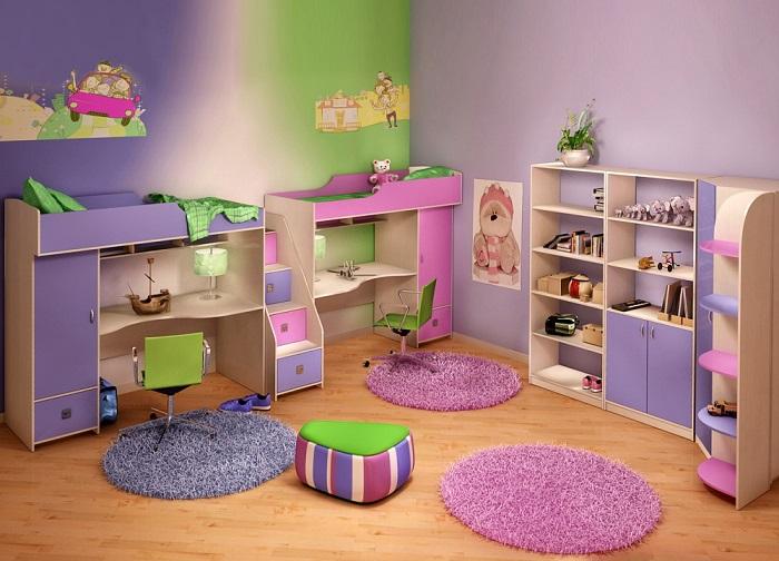 Варианты дизайна интерьера детской для разнополых детей