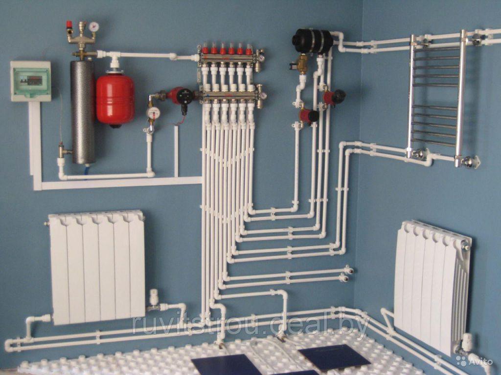 Монтаж отопительной системы в доме