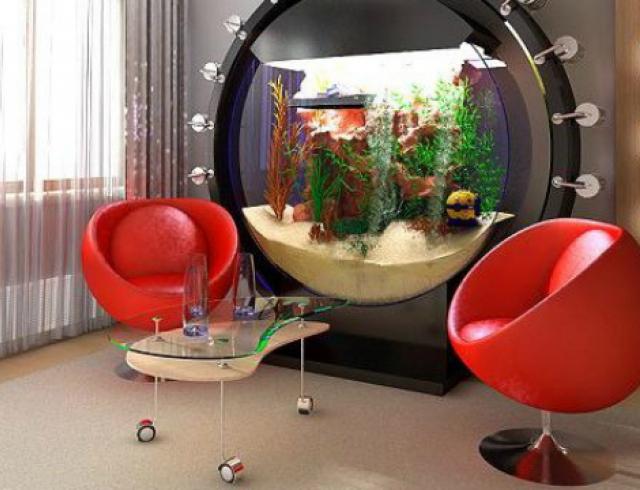 Тренд: аквариум в интерьере