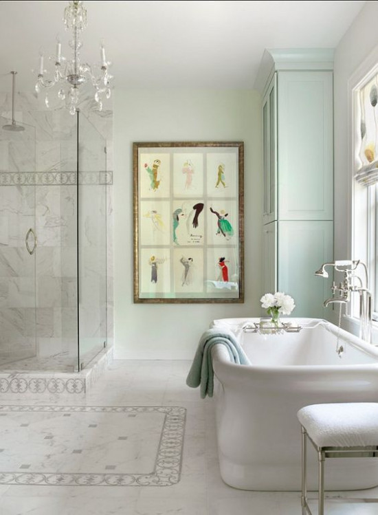 Роскошный интерьер ванной во французском стиле