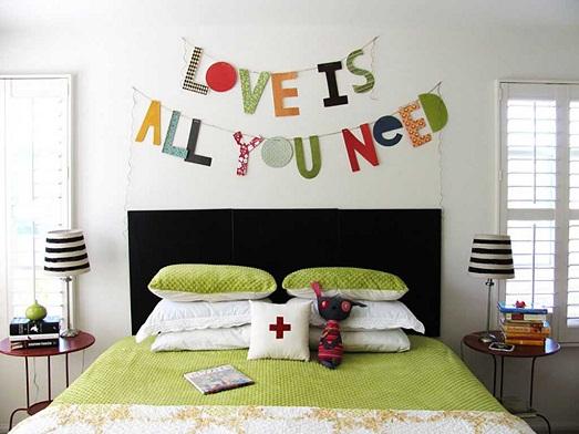 Как можно использовать буквы в интерьере жилья?