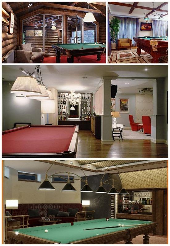 Бильярдная дома: как обустроить интерьер бильярдной комнаты