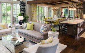 Идеальное сочетание уюта и утонченности с легким акцентом на роскошь: гостиная в стиле прованс